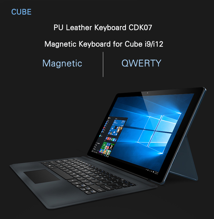 Original Cube i9 / i12 QWERTY Keyboard PU Leather Magnetic Docking