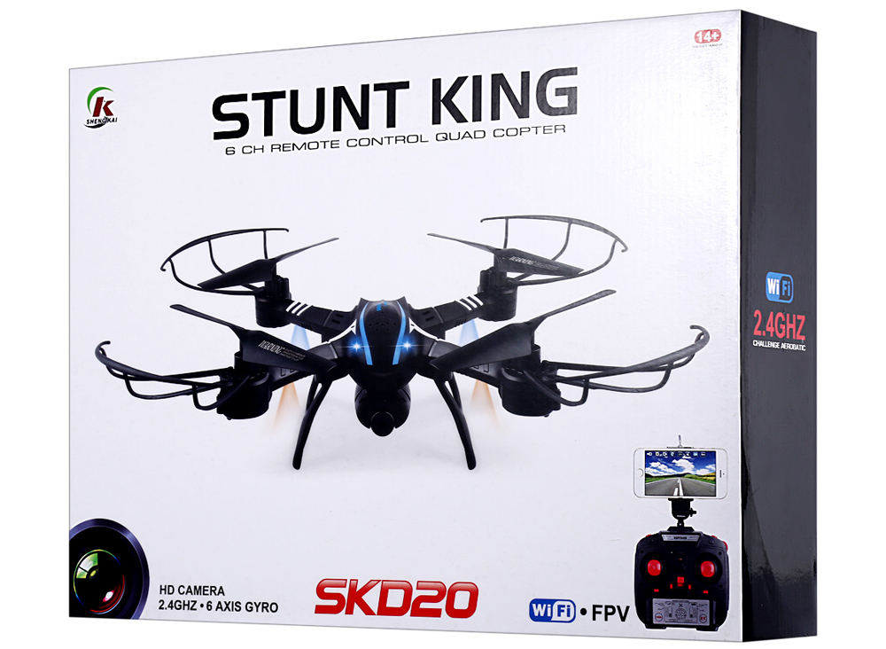 SKRC D20W 2.4GHz 4 Channel 6 Axis Gyro Quadcopter with HD Camera 3D Rollover RTF Version
