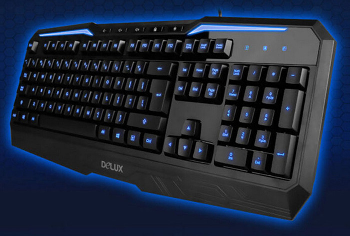 Delux K9025 Professional USB Wired Gaming Keyboard with LED Backlit Computer Parts