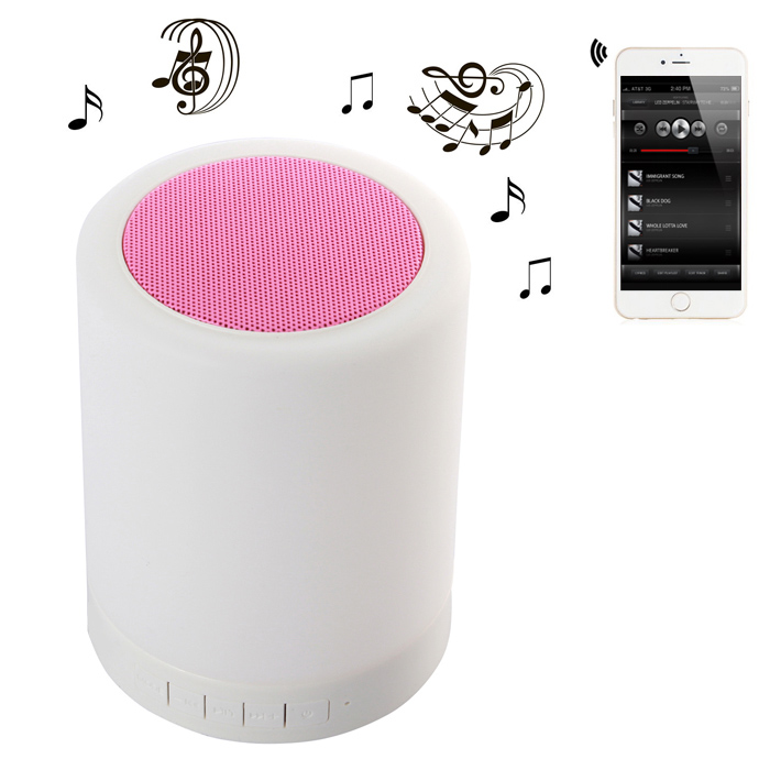 Colorful Touch Light Bluetooth 4.0 Speakers Wireless Music Player with Lithium Battery Support Hands-free Phone Call
