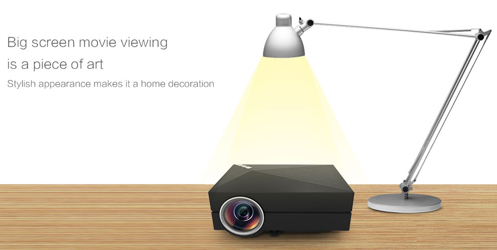 GM60A LCD Projector 1000Lm 800 x 480 Pixels 1080P HD Home Theater Cinema Support DLNA Miracast Airplay