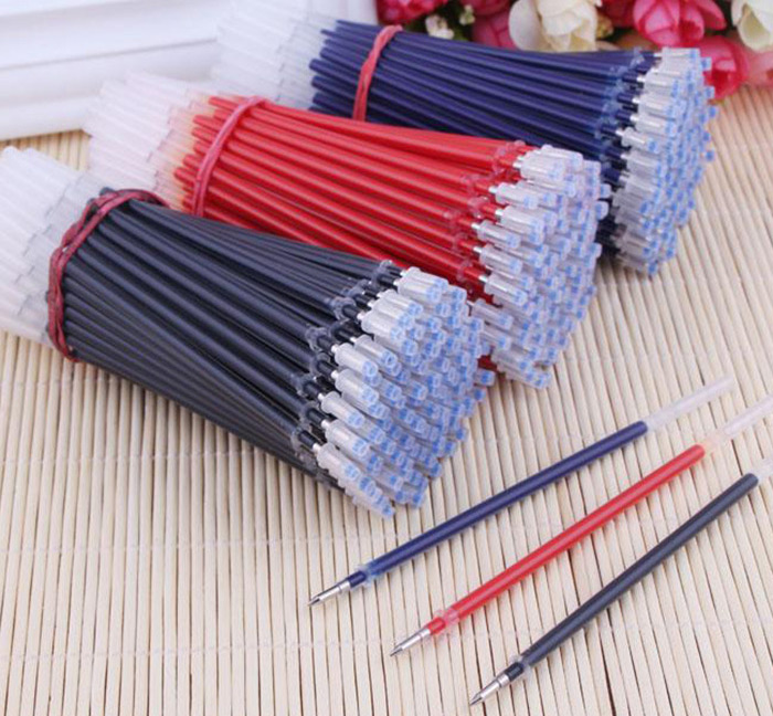 50PCS 0.5mm Replaceable Gel Pen Refills Students Stationery