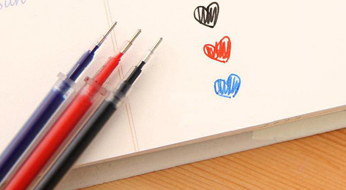 50PCS 0.5mm Needle Tip Replaceable Gel Pen Refills Students Stationery