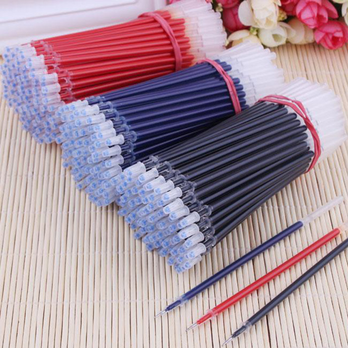 100PCS 0.5mm Needle Tip Replaceable Gel Pen Refills Students Stationery