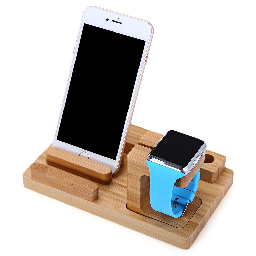 Creative 3 in 1 Multifunction Phone Stand Detachable Charging Holder for iWatch / iPad / iPhone with 4 USB Output Ports