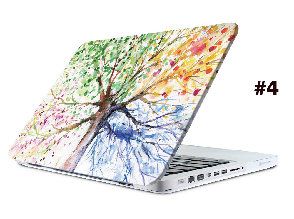 Oil Painting Style Protective Hard Case for MacBook Pro 15.4 inch with Retina Display Frosted Matte Shell with Keyboard Film Screen Protector