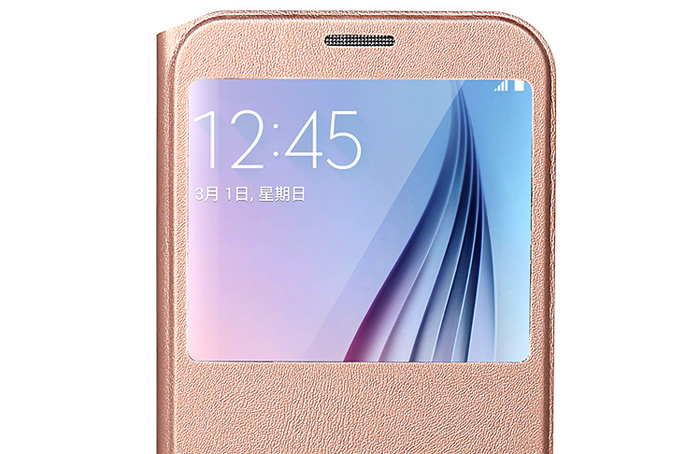 USAMS Muge Series Protective Case for Samsung Galaxy S7 Plus PU Leather Full Cover Shell with View Window Phone Holder