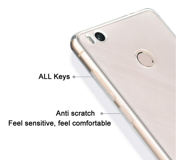 ASLING Transparent TPU Soft Case for Xiaomi 4S Ultra Thin Phone Protector