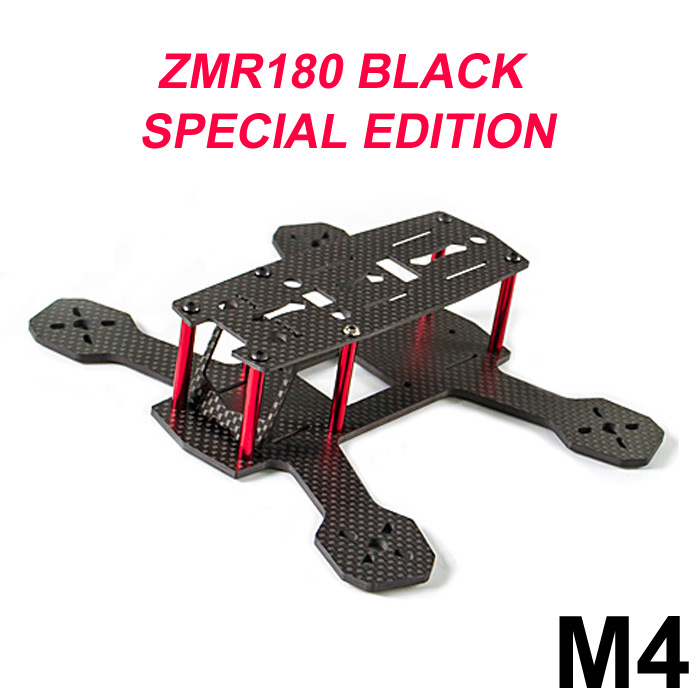 FPVMODEL ZMR180 M4 4mm Carbon Fiber Frame Kit Quadcopter Spare Parts with PCB Board