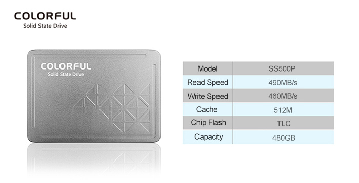 Original Colorful SS500P 480GB Solid State Drive 2.5 inch SSD for Computer Hardware