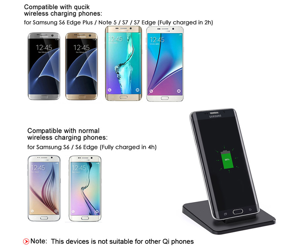 Itian A15 10W Qi Standard Wireless Charger Transmitter Fast Charging