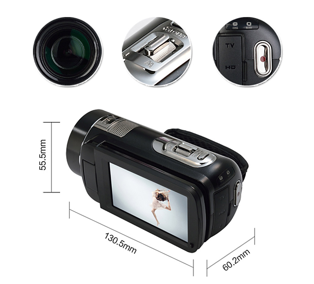 ORDRO Z80 3inch LCD Video Camera Digitale Touch Screen FHD Camcorder DV