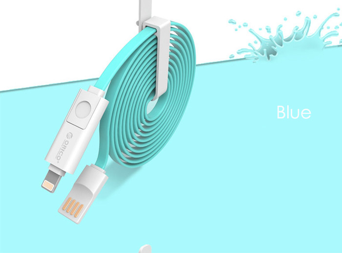 ORICO 2 in 1 Charging and Data Sync Cable 8 Pin Micro USB Interface for iOS / Android Devices 1m