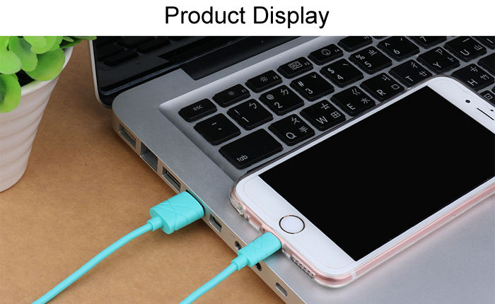 USAMS U - gee Series US SJ038 8 Pin USB Data Transfer and Charging Cable - 1m