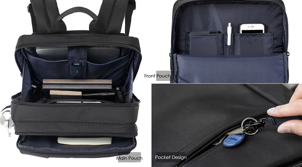Original Xiaomi 17L Classic Casual Business Style Men Laptop Backpack