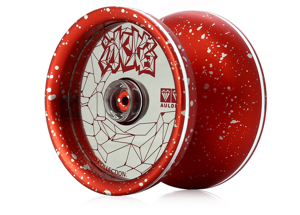 DECAKER Classic Alloy Yoyo Ball Red Ice and Fire Toy Gift for Children