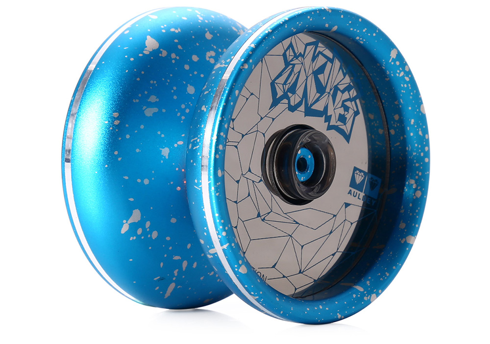 DECAKER Classic Alloy Yoyo Ball Blue Ice and Fire Toy Gift for Children