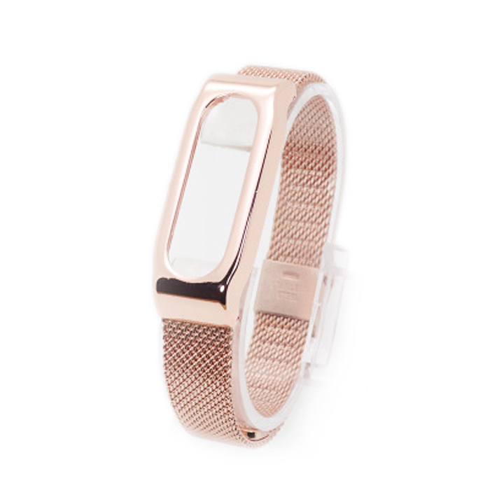 uxurious Environmental Stainless Steel Plating Watchband for XIAOMI Miband 1S