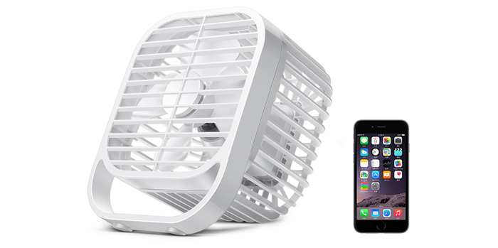 7 inch USB Rechargeable Table Fan Super Mute with 2 Wind Speeds