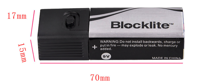 Blocklite Mini Rechargeable 36LM 6 x LED Flashlight with 9V Battery