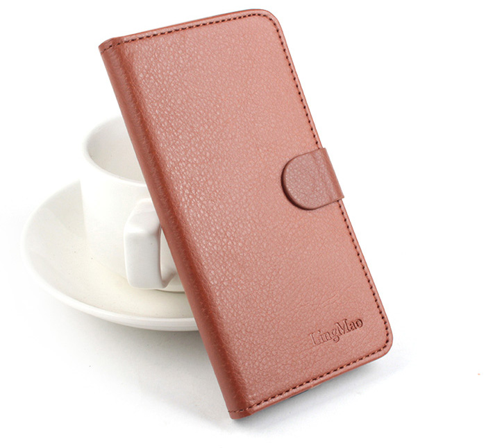Lichee Pattern PU Leather Protective Cover Case for Elephone P9000 Lite
