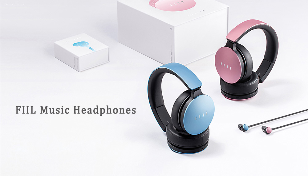 FIIL Headband Music Headphones Noise Canceling with Microphone Breathing LED Light Foldable Design