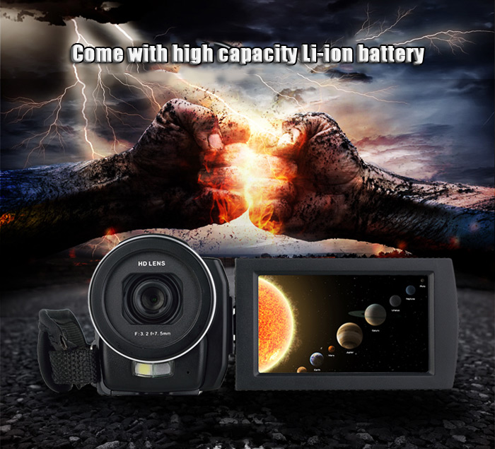 Ordro HDV - F5 3 inch Touch Screen 24MP Digital Video Camera 16X Zoom Camcorder 1080P Full HD DV