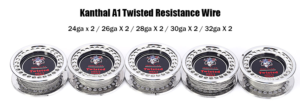 Kanthal A1 Twisted Resistance Wire 15 Feet Heating Wire E Cigarette Accessory
