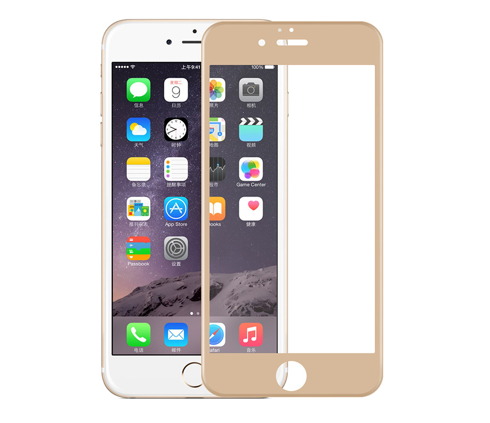 Angibabe Tempered Glass Protective Screen Film for iPhone 6 / 6S 0.3mm 9H 3D Arc Full Cover Membrane