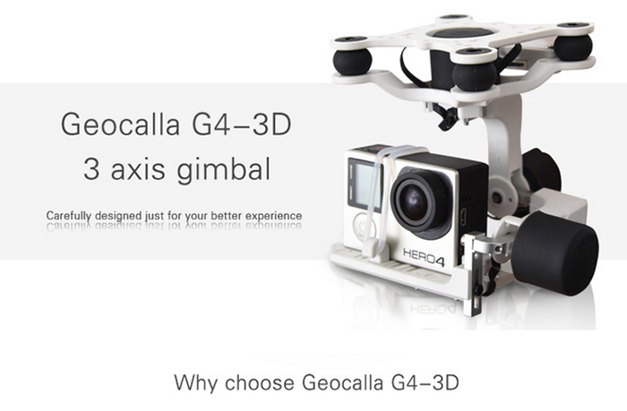 Gemfan Geocalla G4 - 3D 3-Axis Brushless Gimbal 360 Degree Shooting Stabilizer