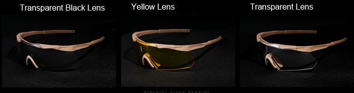 FREE SOLDIER Lightweight Bullet-proof Cycling Tactical Goggles Sunglasses