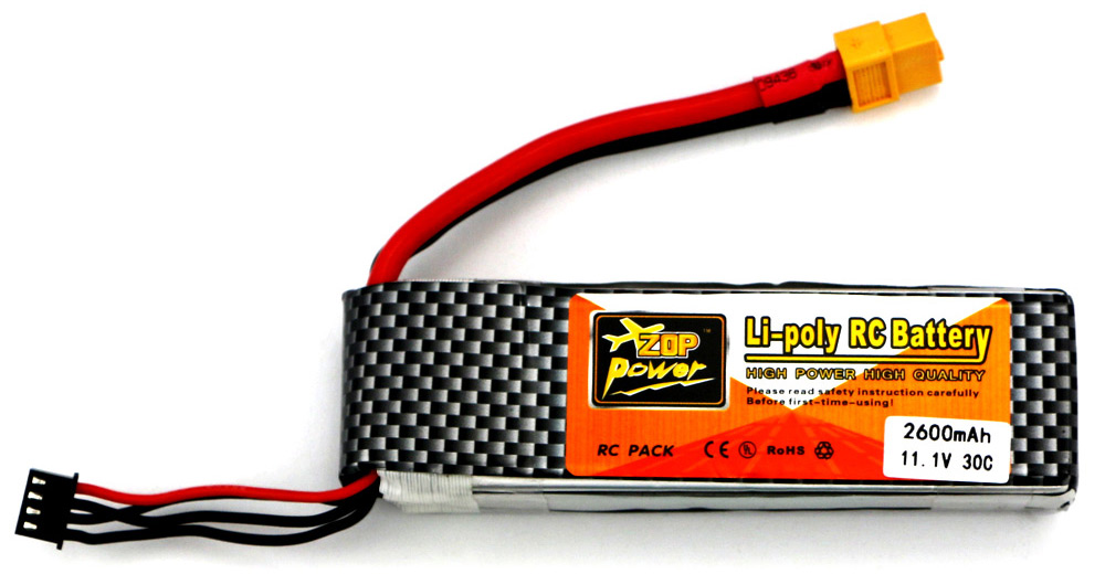 ZOP Power ZOP 2600mAh 11.1V 30C Battery for RC Airplane XT60 Plug