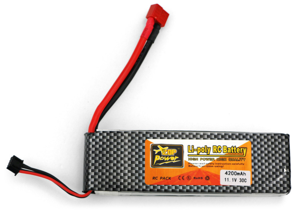 ZOP Power ZOP 4200mAh 11.1V 30C Battery for RC Airplane T Plug