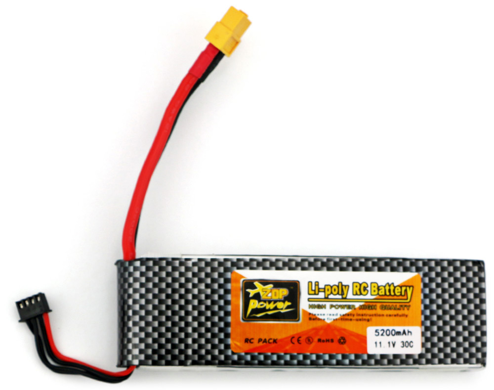 ZOP Power ZOP 5200mAh 11.1V 30C Battery for RC Airplane XT60 Plug