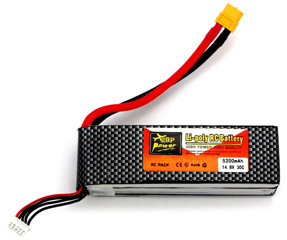 ZOP Power ZOP 5200mAh 14.8V 30C Battery for RC Airplane T / XT60 Plug