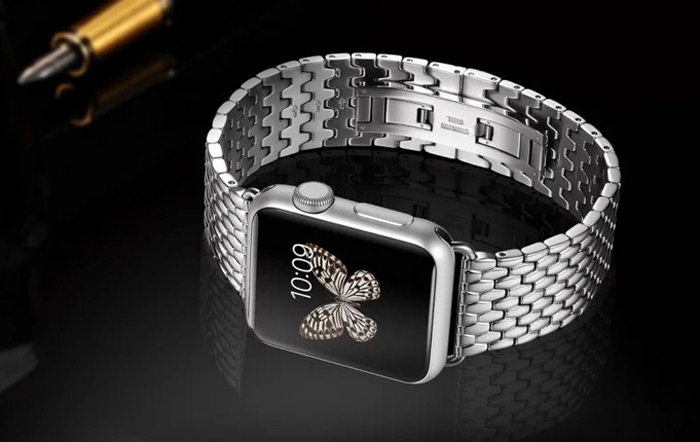 Luxury Wrist Band Stainless Steel Folding Clasp Strap Watchband for Apple Watch 42mm
