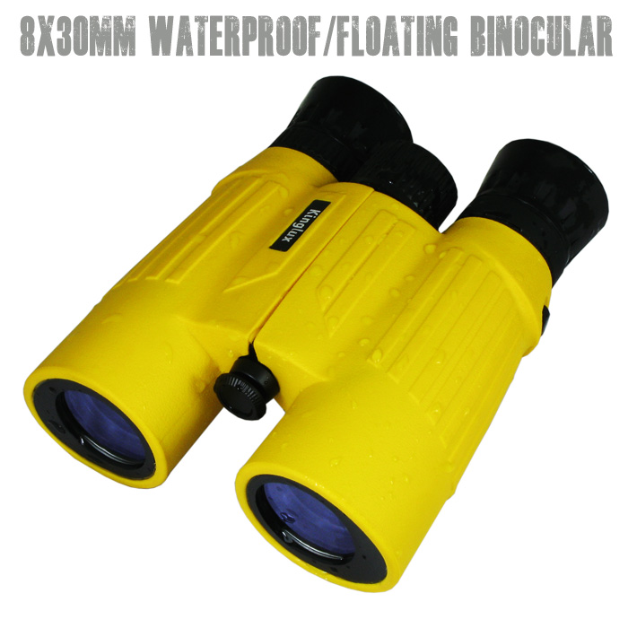 Kinglux 8 x 30 Roof BK - 7 Prism Floating Binoculars with Fold-down Eyecups