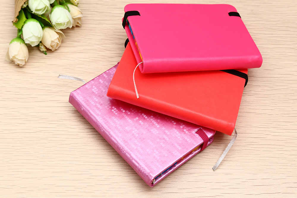 5601L 3PCS Mini Paper Notebook with PU Leather