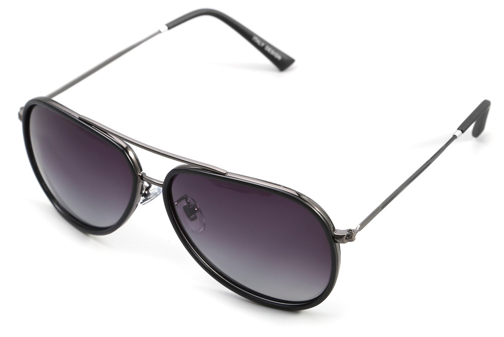YiKang Y9337 Male Thickened Frame Ombre Color Polarized Sunglasses with TAC Coating