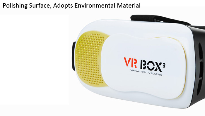 Virtual Reality 3D VR Glasses for 4 - 6 inch Mobile Phones Anti Eye Strain Environmental ABS Material