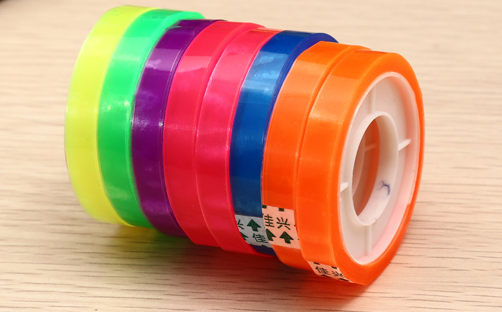CH - 08 Plastic Adhesive Tape Students Supplies 8PCS