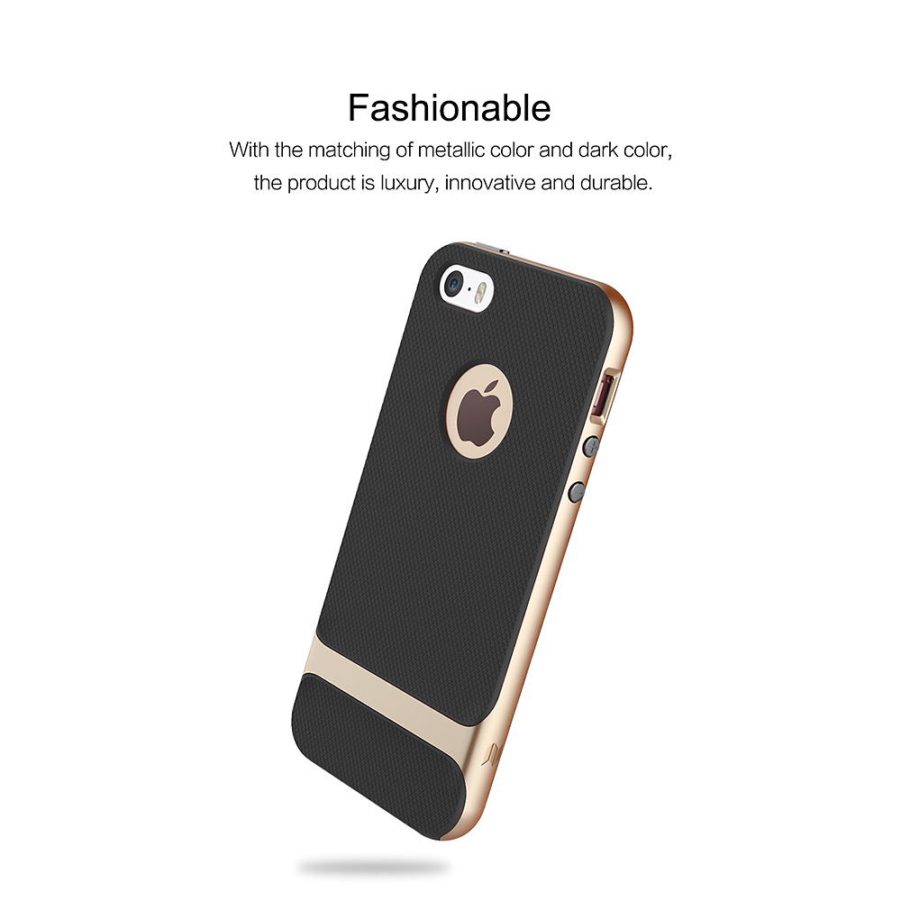 ROCK Royce Series Protective Shell for iPhone 5 / 5S / SE Contrast Color Design Mobile Case