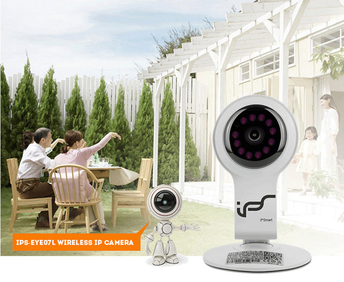 IPS - EYE07L Wireless IP Camera Two Way Audio 720P Night Vision Support 32G Micro SD Card