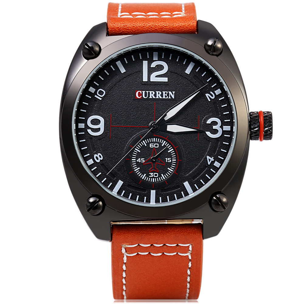 CURREN 8188 Business Style Big Dial Male Quartz Watch