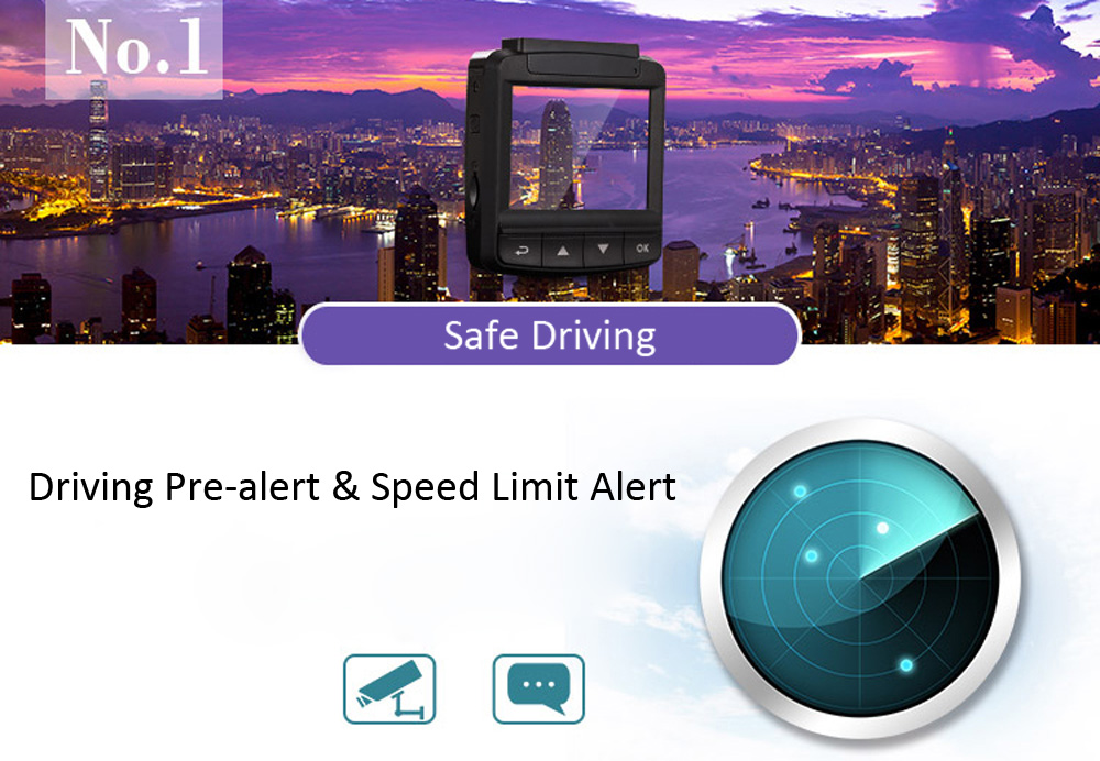 ORDRO X2 1080P Full HD 3MP Car DVR Camera Recorder GPS Tracking Driving Pre-alert G-sensor Motion Detection