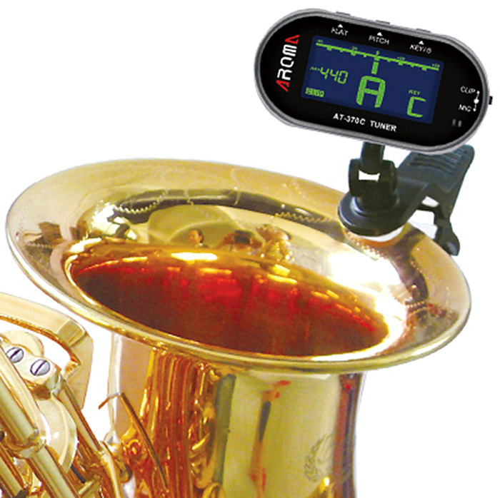 Aroma AT - 370C Back Light LCD Screen Clip-on Guitar Electric Tuner for Musical Instrument