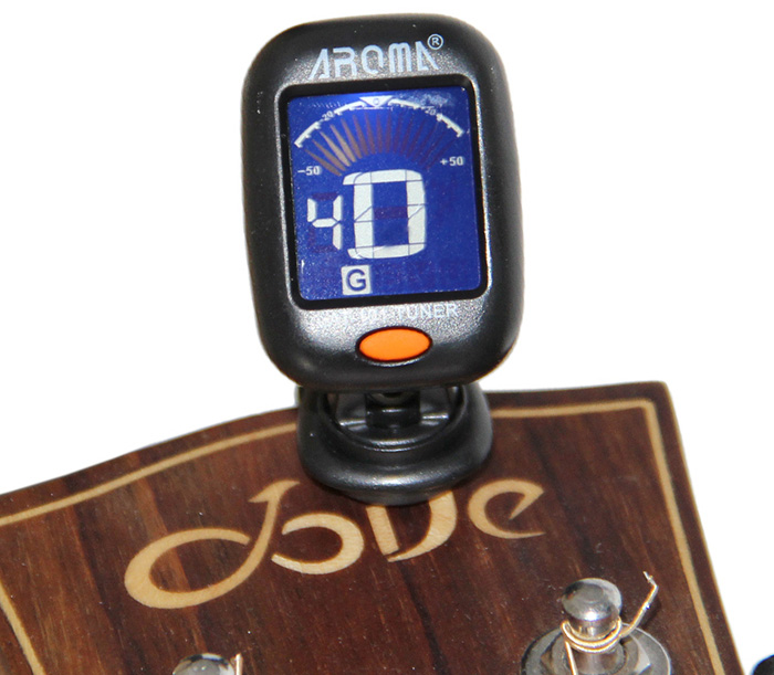 Aroma AT - 101 Backlit LCD Screen Clip-on Guitar Electric Tuner for Musical Instrument