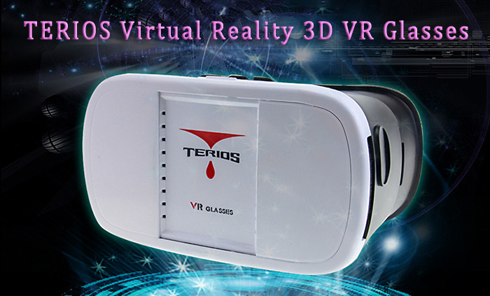 TERIOS Virtual Reality Glasses Case with Remote Controller 3D Immersive 95 Degrees FOV for iOS / Android 4 - 6 inch Mobile Phones