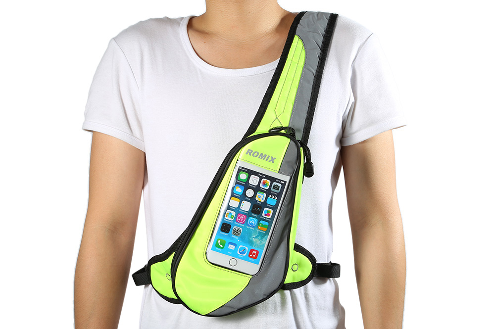 ROMIX XKB01 Fashion Sports Waist Bag PVC Touch Screen for Outdoor Sports