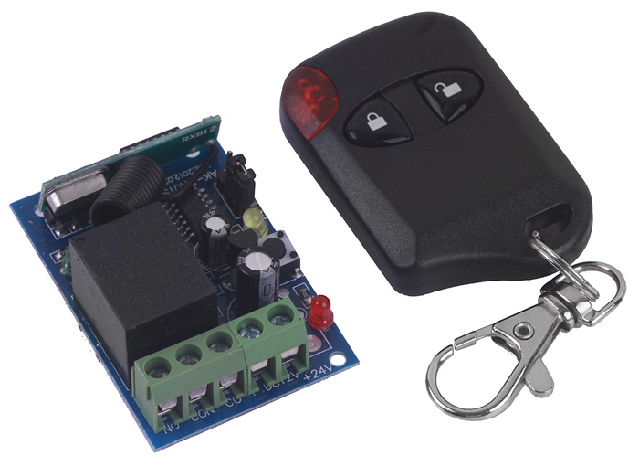 Practical DC12V Single Channel Wireless Remote Control Switch Security System - Unlock / Lock Keys